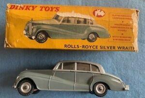 Dinky Toys Car 150 Rolls -  Royce  Silver Wraith In Original Box