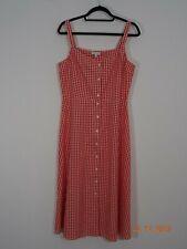 BNWT WAREHOUSE Red & White Gingham Button Through Dress Size 16