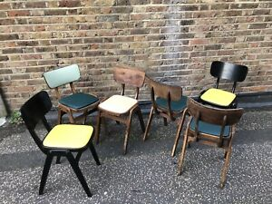 1950s-60s EA CLARE Bar / Cafe / Diner  Chairs Modernist/ Mid Century