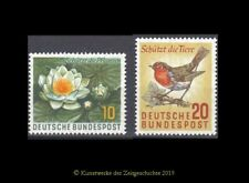 Bund BRD 1957 Mi 274-275 Naturschutz Seerosen und Rotkelchen sauber postfrisch**
