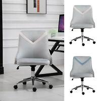 Office Leisure Chair Velvet Computer Home Bedroom Armless Rocker w/ Wheel, Beige