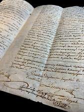 AUTOGRAPHED PARCHMENT 1774   4 pages