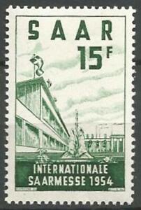 Germany Saar French Occupation 1954 MNH Saar Fair Buildings Mi-348 SG-345