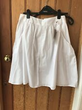 Love Label Pure White Gathered Skirt Can Crinkle 12 Bnwt