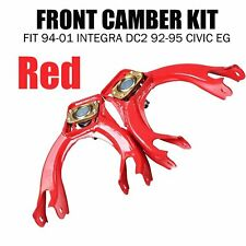 Adjustable Steel Front Camber Kits Fit 1994-2001 Integra Dc2 92-95 Civic Eg Red