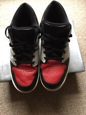 Men's Nike NU 'RETRO AIR JORDAN 1 Low Varsity Rosso Taglia UK11