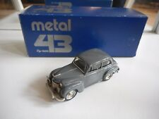 Western Models Metal 43 Opel Olympia Limousine 1952 in Grey on 1:43 in Box