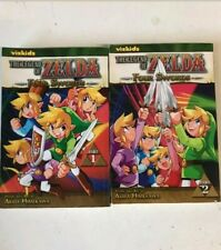 The Legend Of Zelda 4 Swords Manga 1 & 2 Lot Vizkids nintendo comic link game