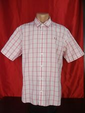 AUTH $110 Fred Perry Men Bold Gingham Short Sleeve Shirt