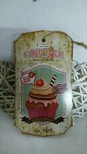 LETRERO DE MADERA CUADRO clayre & eef Cupcake Muffin tartita