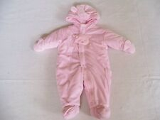 EUC Girls Size 6/9 mo CARTERS Snowsuit  Very Warm & Puffy  Puppy Dog Design