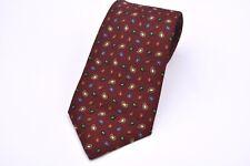 J. Press Burgundy Multi Colored Small Paisley Made in Ireland Silk Tie