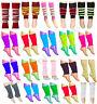 GIRLS TEEN 80'S DANCE PLAIN RIBBED LEG WARMERS LEGWARMER TUTU FANCY DRESS