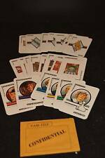 1986 Clue Game Cards Complete Set Of 21 W/Envelope