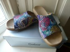 Gabor Summer Mules Slip Ons Slider Sandals Excellent Condition Sz 6.5 Eu 40