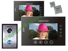 """MEMORY-100 Touchscreen VIDEO TÜRSPRECHANLAGE 2x7""""MONITORE 23mm-flach/16-MELODIEN"""