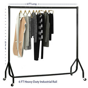 6FT HEAVY DUTY GARMENT RAIL RACK CLOTHES HOME SHOP DISPLAY