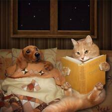 DIY 5D Diamond Painting Cat Dog Read book Fashion Wall Decor Craft 618Y