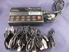 USB Charger for Garmin GPS collars T-5,TT-10,TT-15 -For up to 10 collars-New