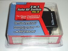 3 in 1 auto rf switch ps1 ps2 n64 snes gamecube xbox nos new joytech