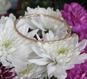 9ct Gold Diamond Cut Bangle Bracelet Gold Carat 9k Not Scrap 2 Of 2