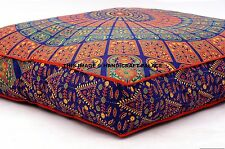 Cushion Cover Large Blue Mandala Pillow Sham Daybed Sofa Floor Outdoor Ottoman