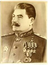 20 x 27 cm RARA FOTO RITRATTO DI STALIN SOVIET ORIGINAL PRESIDENT CCCP USSR