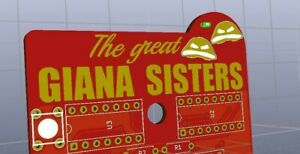 Commodore 64 The Great Giana Sisters PLA 906114-01 SID C64 C128 Cartridge GOLD
