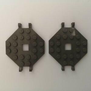 Lego - 2 x Grey Boat Mast Platforms (2539)