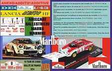 ANEXO DECAL 1/43 LANCIA STRATOS HF A.BALLESTRIERI TOUR DE CORSE 1974 MARLBO (07)