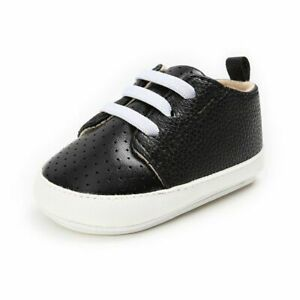Breathable Leather Baby Shoes Sneakers Soft Rubber Flat Soled Infant Walkers New
