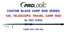 2019 PROLOGIC CUSTOM BLACK 12ft TELESCOPIC TRAVEL CARP ROD 3lb TC MATCH FISHING