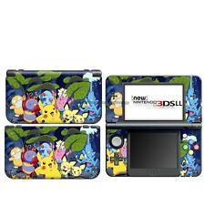 Pikachu Pokemon DECAL Skin Sticker case Cover for Nintendo NEW 3DS XL LL NL54