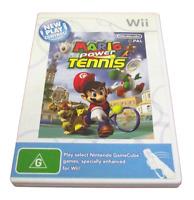 Mario Power Tennis Nintendo Wii PAL *Complete* Wii U Compatible