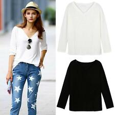 Yes V Neck Blouse Casual Tops & Shirts for Women