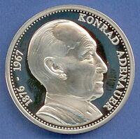 Medaille Konrad Adenauer Deutschland einig Vaterland Ø 40 mm 32 Gr. B56/37