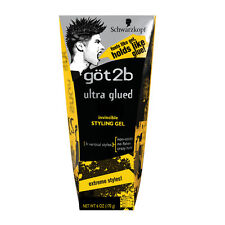 got2b Ultra Glued Invincible Styling Hair Gel Crazy Hold Non Sticky Flake 6oz