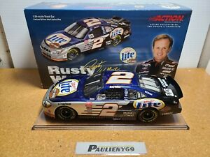 2001 Rusty Wallace #2 Miller Lite / Harley-Davidson Ford 1:24 NASCAR Action MIB