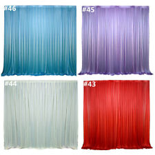 Stage Fabric Backdrop Wedding Party Drapes Curtain Solid Color Background Decor
