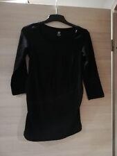 Pullover Langarm shirt 3/4 Arm schwarz Schwangerschaftspulli H&M Mama Gr.SNeu