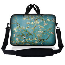 "15.6"" Laptop Sleeve Bag Case w Shoulder Strap HP Dell Asus Acer Almond Trees S53"