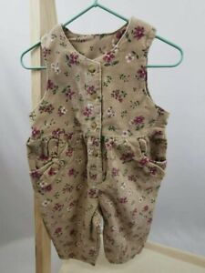New ADAMS baby girls toddler floral brown Trousers all in one dungarees Jumpsuit