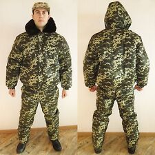 Winter Russian Ukrainian Military Digital Camo Uniform Set. BDU Suit. 2XL XXL 54