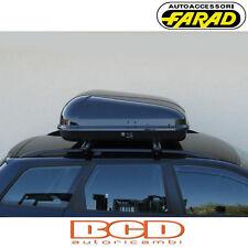 FARAD - BOX BAULE PORTAPACCHI F1 N5 400LT NERO LUCIDO - PORTABAGAGLI AUTO