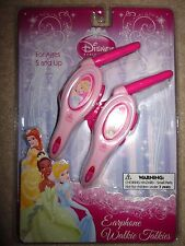 Disney Princess Earphone Walkie Talkies BRAND NEW