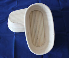 "10""/25cm Oval Banneton Bread Dough Proofing Proving Rattan Cane Basket US STOCK"