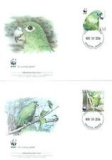 Jamaica 2006 Mi FDC WWF Animals Birds Vögel Ptaki Oiseau Parrot Papagei Papugi