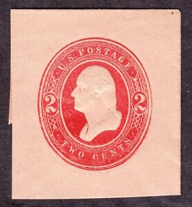 US U239 2c Washington Cut Square Mint VF SCV $22.50
