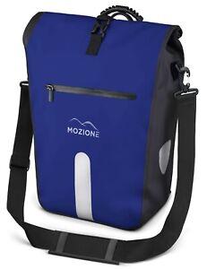 """Mozione® Gepäckträgertasche (Blau) 25L wasserdicht mit 15"""" Zoll Laptopfach"""