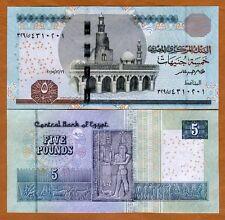 Egypt, 5 Pounds, 2015, Pick New, UNC